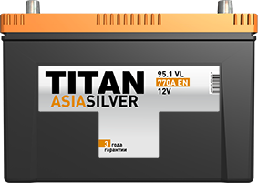 Аккумулятор TITAN ASIASILVER 6CT-95.1 VL